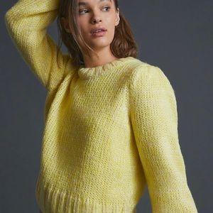 Anthropologie Greylin Yellow Chunky Knit Sweater